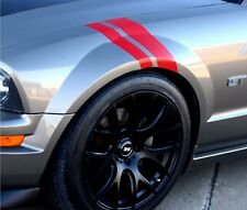 NEW FORD MUSTANG Red Glossy Vinyl Shelby Car FENDER RACING STRIPES Driver Side