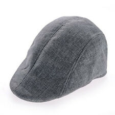New Mens Herringbone Flat Cap Peaked Racing Hat Beret Country Golf Newsboy