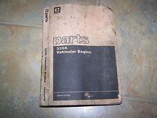 CATERPILLAR MANUAL PARTS CATALOG 3306 VEHICULAR ENGINE DATED 1976