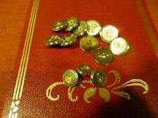 13boutons fer doré pour customiser veste ou création ..