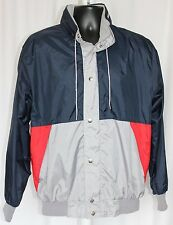 Anzani Mens Windbreaker/Light Rain Coat Size L Grey-Red-Blue