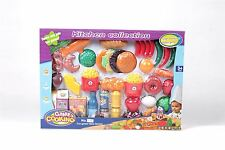 Vinsani 41 Pieces Pretend Play Kids Childrens Kitchen Food Cooking Set
