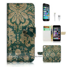 iPhone 6 / 6S (4.7') Flip Wallet Case Cover! P0409 Vintage Flower