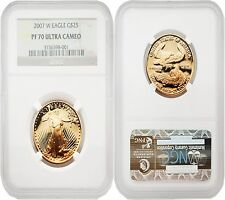 USA 2007W Eagle $25 1/2 oz Gold Coin NGC PF70 ULTRA CAMEO