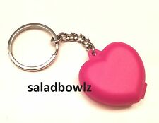 TUPPERWARE New MINI HEART KEEPER KEYCHAIN Tiny Treasures fREEsHIP! Adorable!!