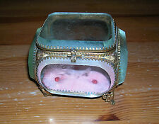 Vintage Beveled Glass Jewellery Case Trinket Box Display Case