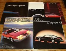 1984 1985 1986 1987 1988 Dodge Daytona Sales Brochure Lot of 5
