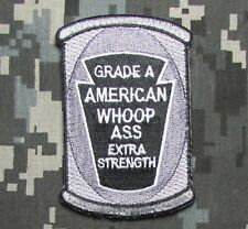 CAN OF AMERICAN WHOOP ASS US ARMY USA MILITARY SWAT VELCRO BADGE MORALE PATCH