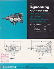 VINTAGE AD SHEET #2988 - 1960s LYCOMING GO-480-C1B ENGINE