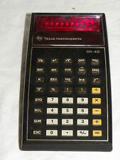 TEXAS INSTRUMENTS SR-40 TASCHENRECHNER CALCULATOR DEFEKT  (4314)