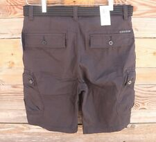 Calvin Klein Jeans Mens Black Belted CARGO Utility Shorts Size 34 NEW!