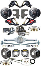 """NEW 2"""" DROP SUSPENSION & WILWOOD BRAKE SET,CURRIE REAR END,ARMS,POSI GEAR,555721"""