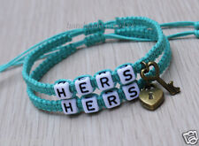 Couples Bracelet  Hers and Hers Key Lock Bracelet Gay Lesbian Bracelets