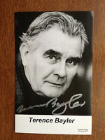 TERENCE BAYLER - HARRY POTTER ACTOR - EXCELLENT SIGNED PHOTOGRAPH B/W