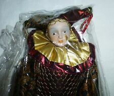 "House of Lloyd Harlequin Doll Christmas Around the World 14"" Holiday 80s RARE!!"
