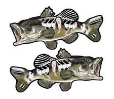 """Largemouth Ripped Bass Fish 5"""" Car Truck Home Sticker Decal Gift Package of Two"""