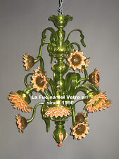 "Lampadario in vetro di murano ""GIRASOLI"" - Murano glass chandelier ""SUNFLOWERS"""