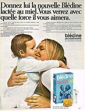 PUBLICITE  1970  BLEDINE LACTEE JACQUEMAIRE     au Miel