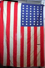 VTG U.S. American Flag  48 stars 31 1/2 x 44 in. possibly silk