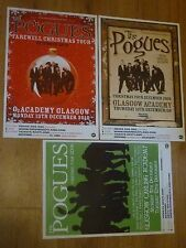 The Pogues - Scottish tour concert gig posters x 3