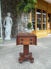 Outstanding Mahogany Empire Work Table 19th Century