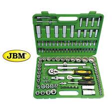 Maletín de herramientas 113 piezas  estuche JBM Llaves de vaso 12 caras, carraca