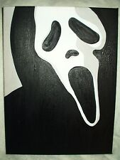 Canvas Painting Scream Movie Mask Art 16x12 inch Acrylic