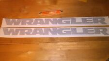 Jeep Rubicon Hood Decals Pair Any Color Unlimited Wrangler