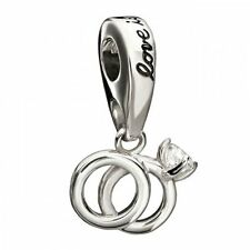 Chamilia Silver Charm Sterling Silver Wedding rings love charm 2025-0758 RRP £42