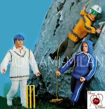 Knitting Pattern ACTION MAN DOLLS CLOTHES CRICKET MOUNTAINEERING JOGGING - PDF