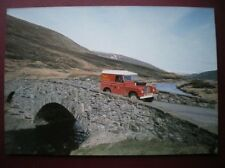 POSTCARD PO BOX 1 ROYAL MAIL POSTBUS SERVICE 113 CROSING THE RIVER CLUNE FRASER