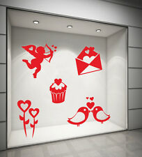 WALL STICKERS DECORAZIONI ADESIVI MURALI_KIT ICONE SAN VALENTINO