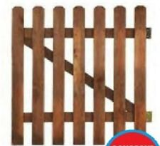 Wooden gate in pine wood palisade fencing H80cm x L100cm