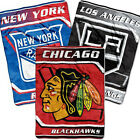 Official NHL Royal Plush Raschel Blanket 60