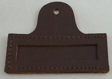 Armed Forces Brown Leather Name Tag Holder