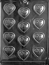 FANCY LOVE HEART PIECES V4 Chocolate Candy Soap molds wedding cupcake toppers
