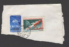 RUSSIA 1961 10K 1st MANNED SPACE FLIGHT + 1 OTHER ON PAPER