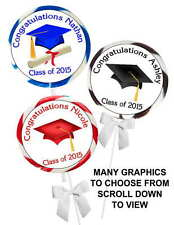 40 GRADUATION PARTY STICKERS ~ for lollipops, suckers, env. seals, favor labels