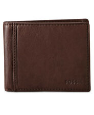 FOSSIL Men's INGRAM Traveler Brown Leather Wallet  NEW