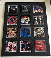 "KISS 14"" BY 11"" LP COVERS PICTURE MOUNTED READY TO FRAME"