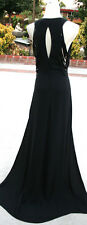 NWT MAX AZRIA $648 BLACK Pageant Party Evening Gown XS