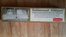 1960 Rubbermaid 1567 Kompact Car Front Floor Mat Dodge Dart Lancer Rubber Grey