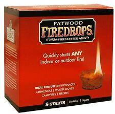 Fatwood L'INCENDIARIA firedrops-caminetti, stufe a legna, buche per il Fuoco, I FALO' 8pcs