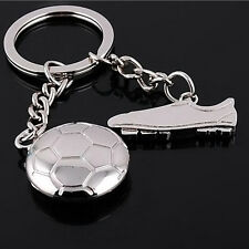 Football Soccer Boot Silver Metal Keychain Keyring Keyfob Creative Key Chain