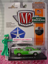 Castline M2 Machines 1971 PLYMOUTH CUDA 440∞Sublime Green/ White✰Auto-Drivers✰