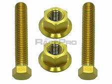 Gold Titanium Axle Chain Adjuster Bolts - Suzuki Gsxr1300 Hayabusa 99-02