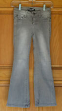 Free Style Revolution Girls Size 8 Distressed Flare Gray Jeans