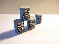 3 Casa de Muñecas en Miniatura latas de judías