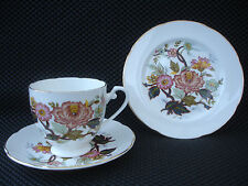 "VINTAGE BONE CHINA TRIO+2 ""ROYAL GRAFTON"" ENGLAND BEAUTIFUL FLORA PATTERN."
