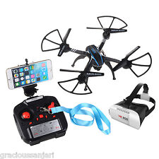 VR Box 3D Glasses Drone WIFI FPV 2.4Ghz 4CH RC Quadcopter Camera 3D Rolling UFO